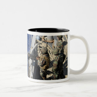 Sailors aboard USS Fort McHenry Two-Tone Coffee Mug