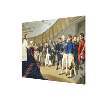 Sailors at Prayer on Board Lord Nelson's Ship Canvas Print