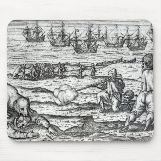 Sailors attacked by polar bears mouse pad