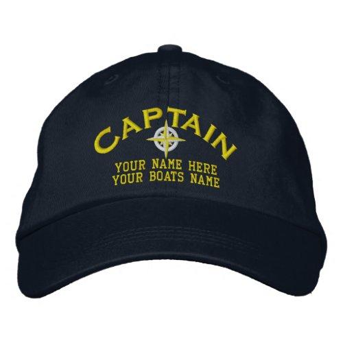 Sailors boat captains sailing embroidered baseball cap