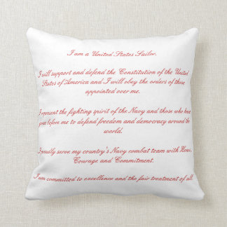 Sailors Creed Throw Pillow