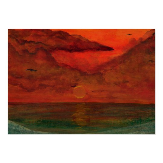 Sailor's Delight Acrylic Painting Indian Rocks Bea Poster