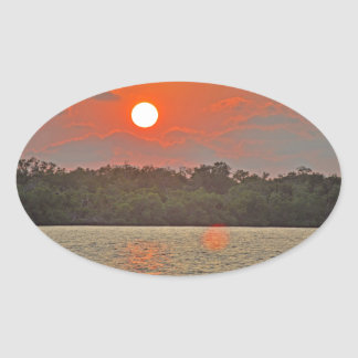 """""""Sailor's Delight """" collection Oval Sticker"""