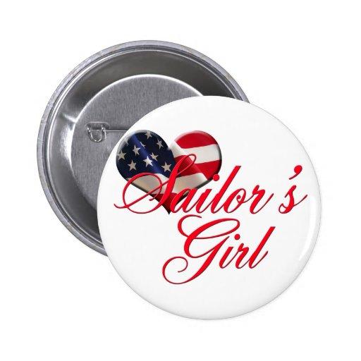 Sailor's Girl 2 Inch Round Button