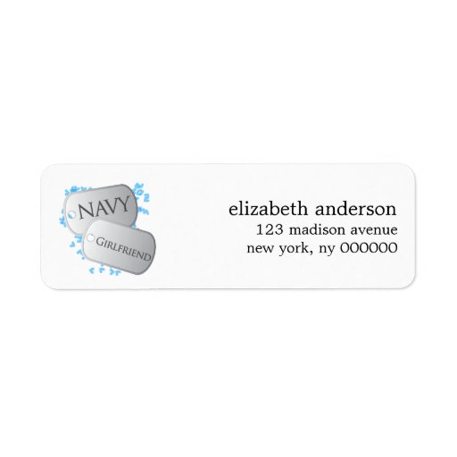 Sailor's Girlfriend and Dog Tags Address Labels