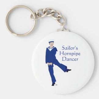 Sailors Hornpipe Dancer Basic Round Button Keychain