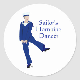 Sailors Hornpipe Dancer Classic Round Sticker