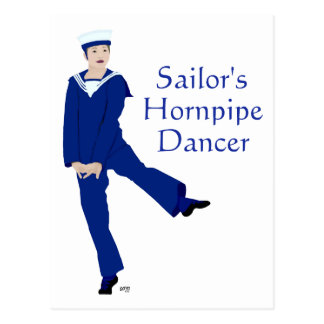 Sailors Hornpipe Dancer Postcard