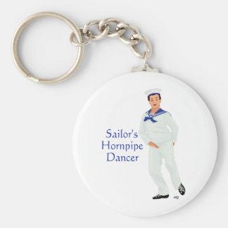 Sailors Hornpipe Highland Dancer Basic Round Button Keychain