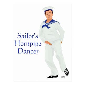 Sailors Hornpipe Highland Dancer Postcard