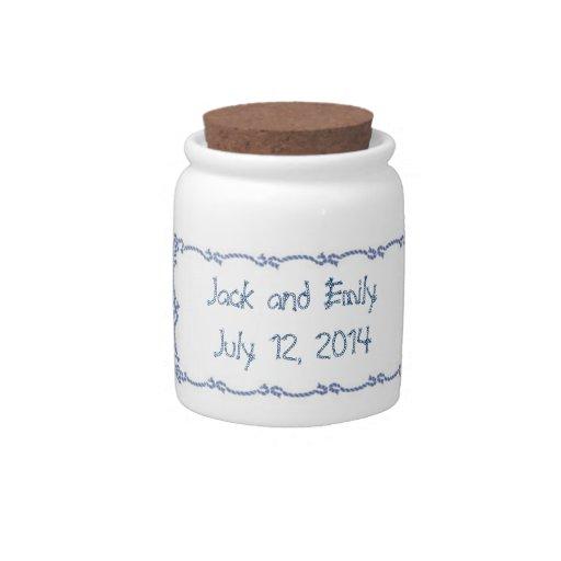 Sailors Knot Wedding Favors Candy Jars