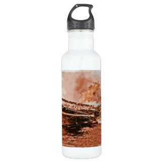 Sailors Leave Sinking Ship Water Bottle