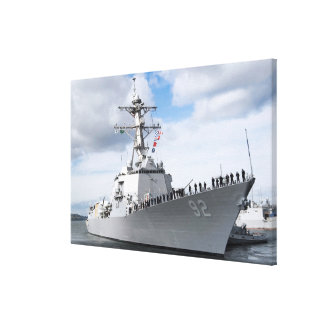 Sailors man the rails canvas print