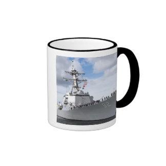 Sailors man the rails mugs