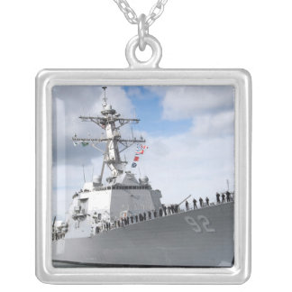 Sailors man the rails silver plated necklace