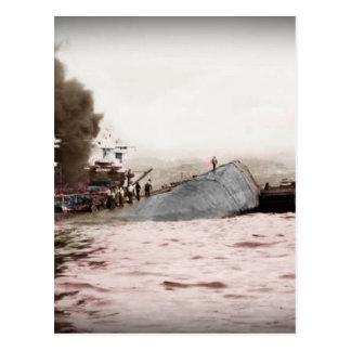 Sailors on a Capsized Ship Postcard