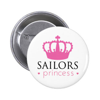 Sailors Princess 2 Inch Round Button
