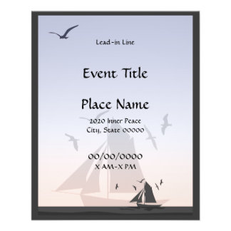 Sailors Sailboats Small Event Flyer