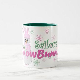 Sailors SnowBunny Two-Tone Coffee Mug