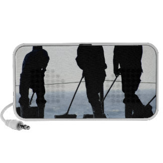 Sailors sweep out the hangar bay iPhone speakers