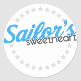 Sailor's Sweetheart Classic Round Sticker