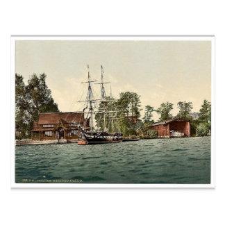Sailor's training station, Potsdam, Berlin, German Postcard