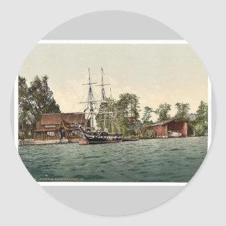 Sailor's training station, Potsdam, Berlin, German Classic Round Sticker