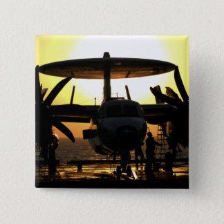 Sailors work on an E-2C Hawkeye aircraft Pinback Button