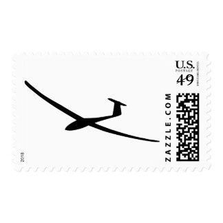 sailplane del planeador timbre postal