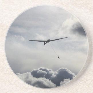 Sailplane Launching Sandstone Coaster
