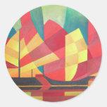 Sails and Ocean Skies Round Sticker