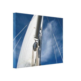 Sails and Rigging Canvas Print