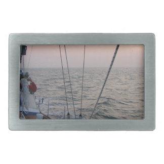 Sails at sun perdition rectangular belt buckle