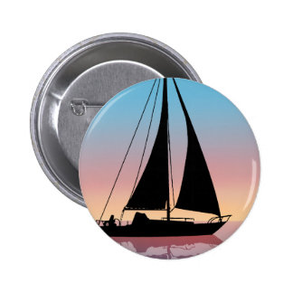 Sails at Sunset Silhouette 2 Inch Round Button