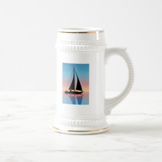Sails at Sunset Silhouette Beer Stein