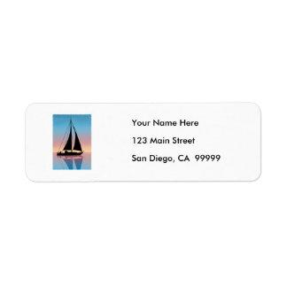 Sails at Sunset Silhouette Custom Return Address Label