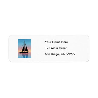 Sails at Sunset Silhouette Label