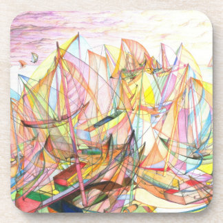 Sails in Action Beverage Coasters