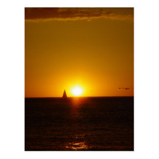Sails In The Sunset On Mullalloo Beach At Western Postcard