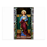 Saint Agnes (Agnes of Rome) - Stained Glass Art Postcard