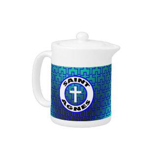 Saint Agnes Teapot