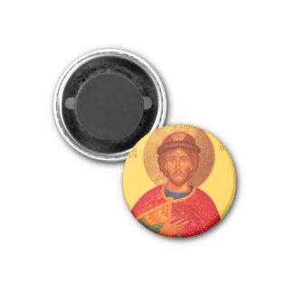 Saint Alexander Nevsky Orthodox Icon Magnet