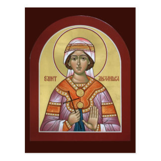 Saint Alexandra Prayer Card