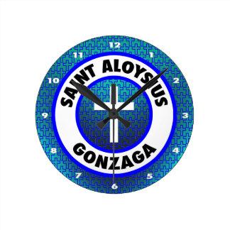 Saint Aloysius Gonzaga Round Clock