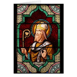 Saint Alphonsus Maria de Liguori Stained Glass Art Greeting Card