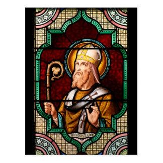 Saint Alphonsus Maria de Liguori Stained Glass Art Postcard