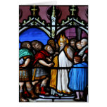 Saint Ambrose confronts Emperor Theodosius Greeting Card