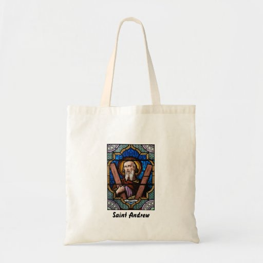 Saint Andrew (Apostle Andrew) Stained Glass Art Budget Tote Bag