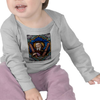 Saint Andrew (Apostle Andrew) Stained Glass Art T-shirts