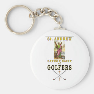 SAINT ANDREW BASIC ROUND BUTTON KEYCHAIN